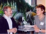 Renate Fischer (KBR) mit Otto Kühnle (Böblinger Bote)